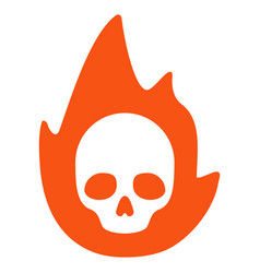 Mortal flame flat icon vector