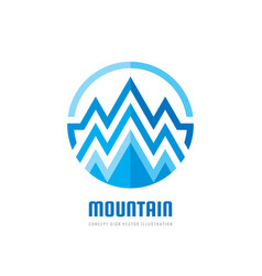mountain - logo template concept vector image