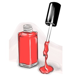 Nail polish drawing vector