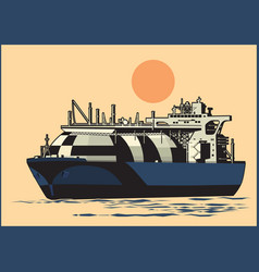 Natural gas tanker vector