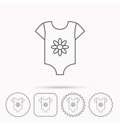 Newborn clothes icon bashirt wear sign vector