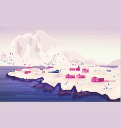 norwegian landscape panorama beautiful panorama vector image