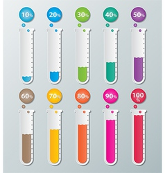 paper infographic chart vector image