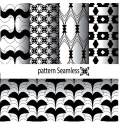 pattern design in black and white vector image