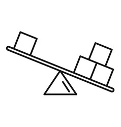 Physics balance icon outline style vector