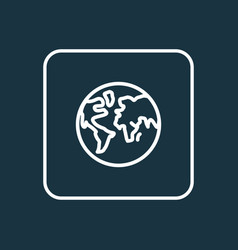 planet outline symbol premium quality isolated vector image