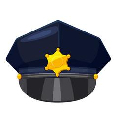 Police cap icon cartoon style vector