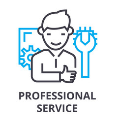 professional service thin line icon sign symbol vector image