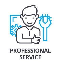 professional service thin line icon sign symbol vector image