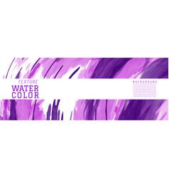 purple surface splash watercolor banner vector image