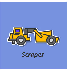 scraper color flat icon vector image