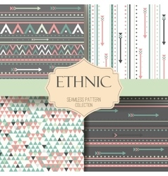 Seamless tribal texture aztec set Boho vector image