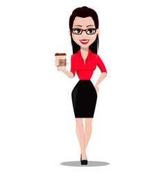 secretary in office style clothes vector image