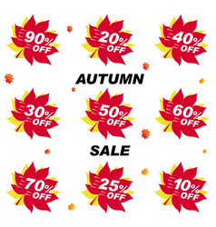set bright banner for autumn sale discount offer vector image
