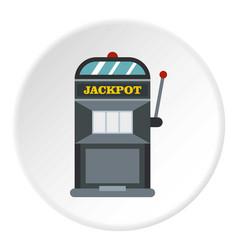 Slot machine icon circle vector