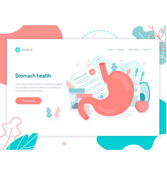 Stomach health medical web page vector