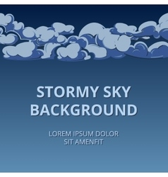Stormy sky and clouds background woth room vector