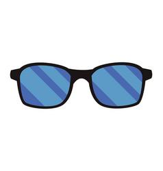 Sunglasses pop art cartoon vector