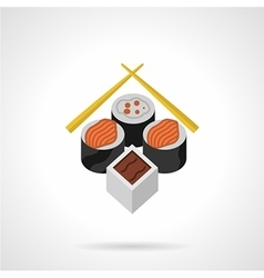 Sushi flat color icon vector image