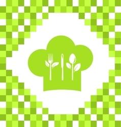 Symbol of Vegetarian Cooking vector image