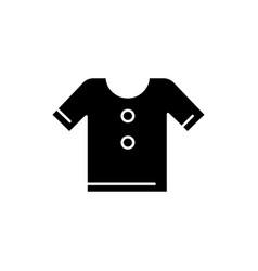 t shirt black glyph icon vector image