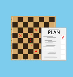 Tactic plan business vector