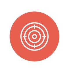 Target board thin line icon vector image