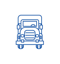 truck front view line icon concept truck front vector image