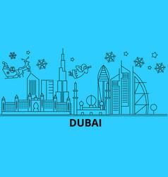 united arab emirates dubai winter holidays vector image