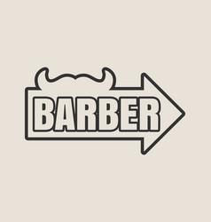 Vintage barber shop emblem or label vector