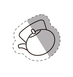 vintge coffee kettle line vector image