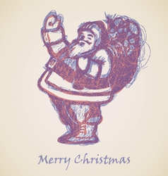 Violet Santa Claus Sketch vector