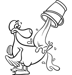 water off a ducks back coloring page vector image