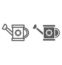 watering can line and glyph icon tool and vector image