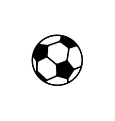 web icon football black on white background vector image