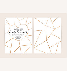 wedding invitation card set modern design vector image