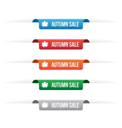 Autumn sale paper tag labels vector image vector image