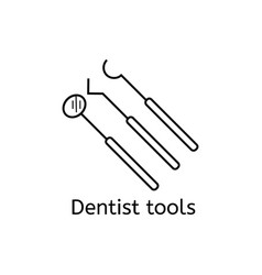dental instrument icon set isolated on white vector image