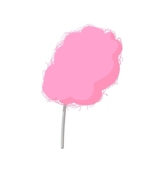Pink candy floss cartoon icon vector image