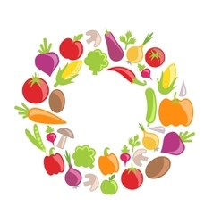 Collection of Vegetables and Fruits vector image