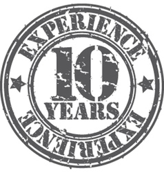 Grunge 10 years of experience rubber stamp vector image vector image
