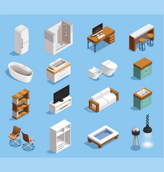 modern furniture icons collection vector image vector image