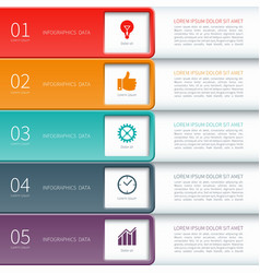 Modern minimal colorful infographics elements vector image vector image
