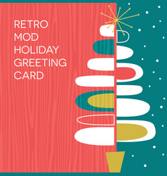 retro abstract christmas tree design vector image vector image