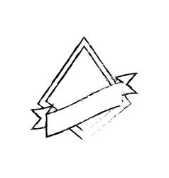 shield star quality badge ribbon sketch vector image