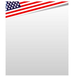 usa flag frame vector image vector image