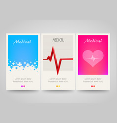 modern colorful vertical medical banners abstract vector image vector image