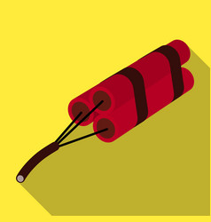 red dynamite in three parts explosives which blow vector image