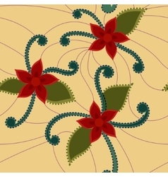 Abstract flowers retro vector image vector image