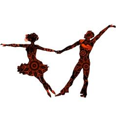 Ballroom couple vector image vector image